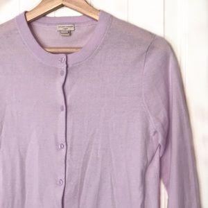 J. Crew   Lavender Caryn Cardigan Sweater Size S